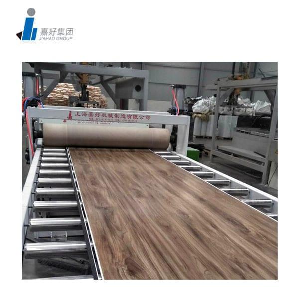 Vinyl floor plank making machine