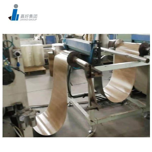 Vinyl flooring making machine